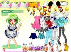 Одевалки аниме игры для девочек